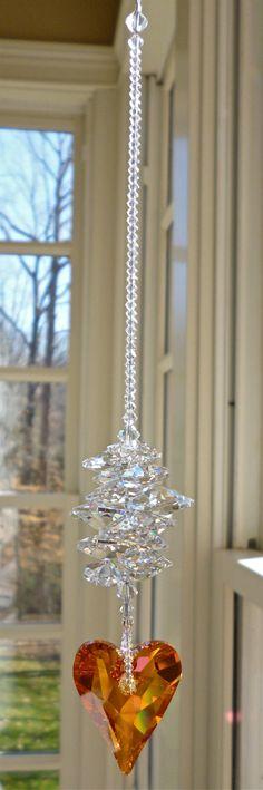 Theresa Astral Pink  9.5 Swarovski Crystal by HeartstringsByMorgan, $39.00