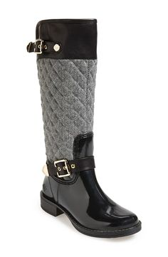 'Peacon' Quilted Tall Rain Boot (Women)