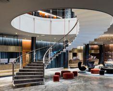 Arne Jacobsen's iconic Copenhagen hotel finally gets a makeover Lobby Interior, Interior Design, Interior Lighting, Copenhagen Hotel, Copenhagen Denmark, Space Copenhagen, Bar Counter Design, Shabby, Most Luxurious Hotels