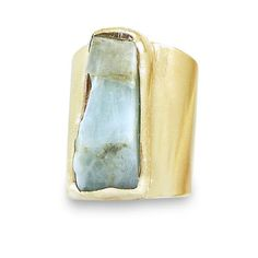 Raw Aquamarine Ring, Aquamarine, Inspirational, March Birthstone,Cocktail Ring, Statement,Crystal, Aquamarine, Raw stone, Statement Ring, Aquamarina Ring, Raw Crystal Ring, Gold Gemstone Ring. * Beautiful piece of raw natural Aquamarine, soldered over a wide band ring Unique statement