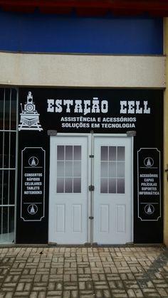 Estação Cell em Maringá Paraná. Assistência técnica e soluções em tecnologia  Temática, padrão ferroviário e rodoviário.  A parada certa para seu celular!