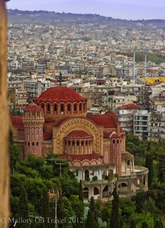 Thessaloniki - Specifically, the Church of St. Paul in Ano Poli. -Thessaloniki km. north of Athens) is the second largest city of Greece Albania, The Places Youll Go, Places To Visit, Church Architecture, Chapelle, Place Of Worship, Kirchen, Greece Travel, Crete