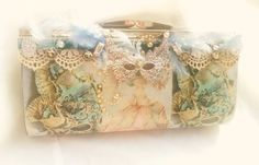 Masquerade clutch Marie Antoinette evening by BlueSilverVintage
