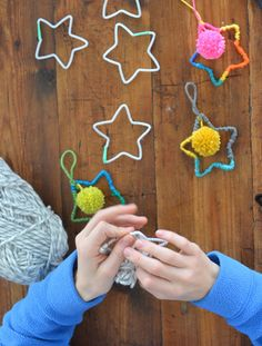 a very simple tip to get a perfect star shape from pipe-cleaners