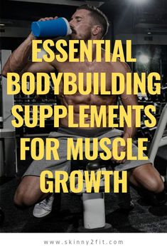 There are some essential bodybuilding supplements that any bodybuilder should add to their arsenal, find out which ones you should not go without. Group Fitness, Health And Fitness Tips, Fitness Goals, Fitness Motivation, Fitness Icon, Fitness Planner, Health Tips, Supplements For Muscle Growth, Bodybuilding Supplements