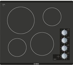 Bosch NEM5466UC 24 Inch Electric Cooktop with 4 Smoothtop Heating Elements…