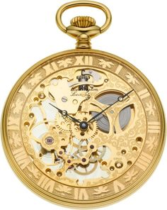 Lexington New/Old Stock Skeleton Pocket Watch