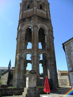 Octagonal Tower  La Tour de Charlemagne , Charroux.