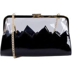 Moschino Cheapandchic Handbag (1.320 DKK) ❤ liked on Polyvore featuring bags, handbags, clutches, black, pattern purse, print purse, man bag, handbags purses and mini handbags