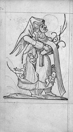 François Desprez,  f. C2 v° Dessin 30  Les Songes drolatiques de Pantagruel  A Paris : Par Richard Breton 1565 (6)