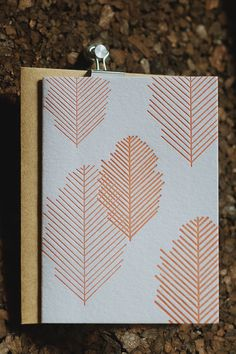 Leaf Letterpress Notecards by 4thyear on Etsy