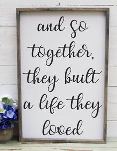 Excited to share the latest addition to my #etsy shop: And So Together They Built A Life They Loved Entryway Decor Farmhouse Decor Foyer Rustic Entryway Decor Large Signs Farmhouse Signs #foyerdecoratingrustic #foyerdecoratingentryway #largefoyerdecorating