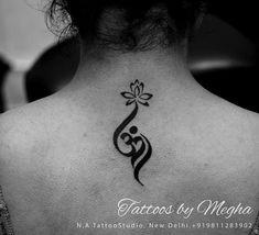 Custom om tattoo along with lotus. - Custom om tattoo along with lotus. Yoga Tattoos, Wrist Tattoos, Body Art Tattoos, New Tattoos, Girl Tattoos, Tattos, Unalome Tattoo, Aum Tattoo, Om Symbol Tattoo