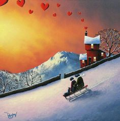 British painter David Renshaw developed his skill of painting from an early age. His passion for Art & Graphic design led him become a successful artist. Karla Gerard, Romantic Paintings, David, Romance, My Art Studio, English Artists, Building Art, Love Illustration, Naive Art