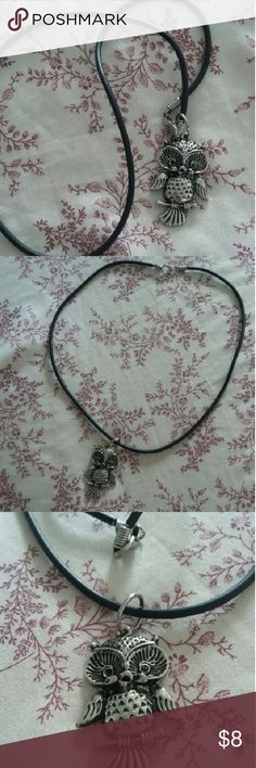 BRAND NEW! 90's Style Owl Necklace Silver tone owl pendant on a black rubber chain. Rubber is on the shorter side. On trend with the whole 90's grunge thing going on right now. Brand new, never worn! Urban Outfitters Jewelry Necklaces
