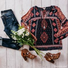 - Description - Details - Whether you're jetting off on your next vacation or just need something to show off your boho style, the All About Bali Top has you covered! This tunic inspired top features