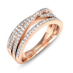 Alliance or rose diamant Manuella