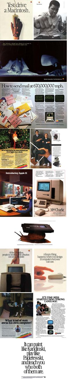 Apple Vintage Ads - Very Well Done #iconicads #ads