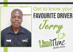 Get to know Jerry: read our full article on our Facebook page. #limetimeshuttle #ortambo #boksburg #potch #potchefstroom #klerksdorp