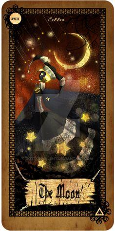 Tarot card - The Moon by CottonValent.deviantart.com on @DeviantArt