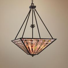 "Quoizel Banks 4-Light 20"" Wide Bronze Pendant Light -"