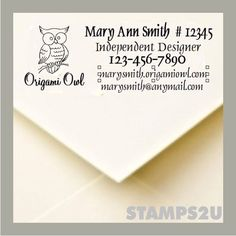 Origami Owl  Designer Pre Inked stamp to use for your by STAMPS2U, $31.95