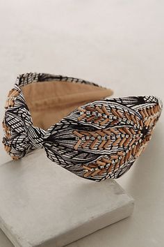 Wood-Stitched Turban Band #anthropologie