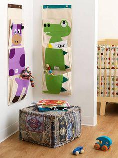 vide poche mural, organisation amusante pour la chambre d'enfant