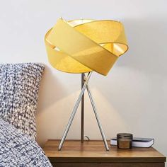 This Elements table lamp is presented with a stylish tripod base and completed with a an Ochre interlocking shade design, perfect for adding a focal point to a room. Grey Table Lamps, Tripod Table Lamp, Table Lamp Shades, Metal Table Lamps, Bedside Table Lamps, Metal Chairs, Black Chairs, Element Table, Lounge