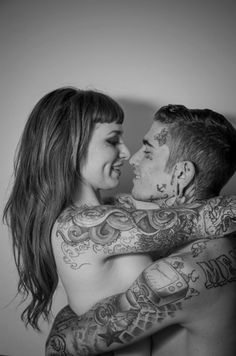 32 Cute Couples Tattoos That You'll Fall in Love With – Millions Grace Cute Couple Tattoos, Love Tattoos, Tattoo You, Beautiful Tattoos, Tatoos, Amazing Tattoos, Tattoos Skull, Body Art Tattoos, Facial Tattoos