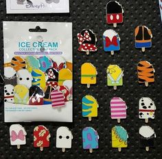 Ice Cream Collectible Pin Pack Take a look at the new Ice Cream Mystery Pin Pack available at Disneyland and Walt Disney World resorts! This set contains 16 pins in total. The post Ice Cream Collectible Pin Pack appeared first on DIY Projects. Walt Disney World, Disney World Resorts, Walt Disney Store, Rare Disney Pins, Disney Pins Sets, Disney Pin Trading, Souvenirs Disney, Disney Trips, Mystery