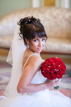 Wedding hairstyle with buns and bangs #hot #sexy #hairstyles #hairstyle #hair #long #short #buns #updo #braids #bang #blond #wedding #style #haircut #bridal #curly #bride #celebrity #black #white #trend #bob #girl #pantyhose #stockings #bikini #legs