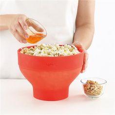 LEKUE Silicone microwave popcorn bowl