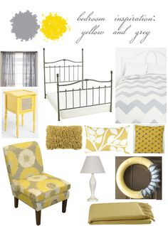 Nice pop of color... Doing a grey and yellow bedroom theme this summer to our room.