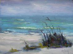 """Paysage marin, peinture à l'huile, LandscapePainting Beach, OOAK peinture """"The Beach à Sanibel"""" 6 x 8""""peinture, peinture quotidienne"""