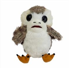 Disney Star Wars Action Plush Porg Voice Toy Wings Mouth Move Last Jedi #StarWars Last Jedi, Disney Star Wars, Plush Animals, Childrens Party, Starwars, The Voice, Wings, Action, History