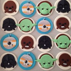 Star Wars Tsum Tsum fondant toppers made by Play Date Cupcakes in Hawaii.