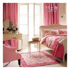 Girly bedroom ❤ liked on Polyvore featuring rooms, backgrounds, bedrooms, house and furniture