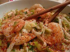 Nouilles et grosses crevettes parfumées au curry thaï, young galanga et citronnelle