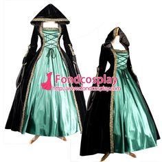 Free Shipping Victorian ROCOCO Gown Ball Dress Gothic Punk Velvet Costume…