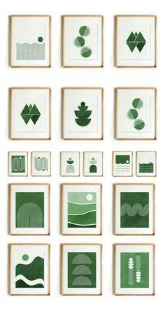 Green Canvas Art, Easy Canvas Art, Simple Canvas Paintings, Green Paintings, Green Wall Art, Mini Canvas Art, Green Art, Apartment Wall Art, Diy Wall Painting