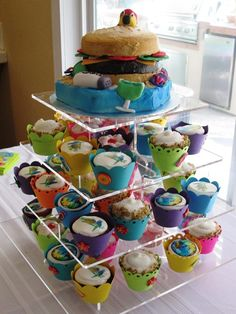 Margaritaville cake and cupcakes