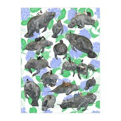 Kozyndan |  Vegans: Manatees and Bunnies Poster from BALTIC Shop
