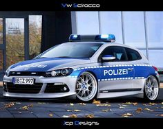 VW Scirocco German Police Car <<< repinned by www.BlickeDeeler.de