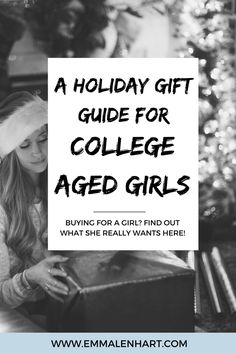 Looking to buy a gift for a college age girl this holiday season? Find the perfect gift guide here. The first gift idea is. Christmas Gifts For Girls, Christmas Holiday, Xmas, Holiday Gift Guide, Holiday Gifts, College Gifts, Tech Gifts, Creative Gifts, Small Gifts