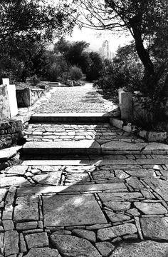 Dimitris Pikionis/ The path to the Acropolis/ Athens/ Greece Landscape Elements, Urban Landscape, Landscape Architecture, Landscape Design, Garden Design, Landscaping Retaining Walls, Garden Paving, Garden Stones, Colorado Springs