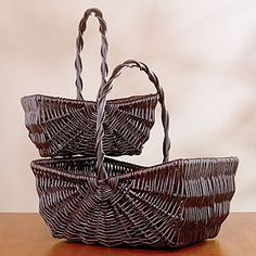 Sophie Picnic Baskets, Brown $13
