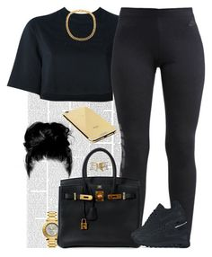 """Dark Child. "" by livelifefreelyy ❤ liked on Polyvore featuring Nicki Minaj, NIKE, Hermès and Goldgenie"