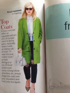 Instyle sept issue. Love everything particularly the top shop bright coat