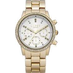 Lipsy - Ladies White and Gold Bracelet Watch - LP168  RRP: £45.00 Online price: £40.50 You Save: £4.50 (10%)  www.lingraywatches.co.uk